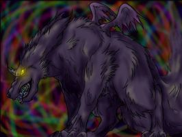 The mysterious demon dog by FantasyDemonAngel