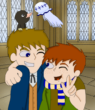 Newt Scamander And His Son by VelociPRATTor