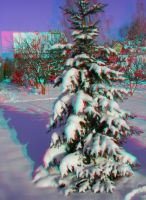 Winter10 3D Anaglyph by yellowishhaze