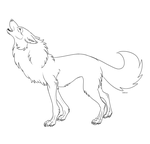 .:WOLF OUTLINE:.:Free to use:. by Ashenee