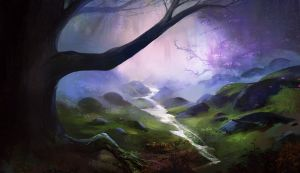 purple forest by Lapponia
