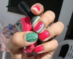 Watermelon Nails by CreamTroll