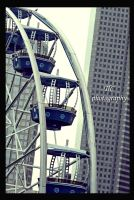 Downtown Ferris wheel by TlCphotography730