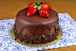 Double Chocolate Fudge Cake by Thrakki