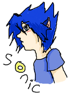 Human Sonic iScribble drawing by CleeksFire