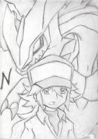 Black N' White - N and Kyurem by cutejana17