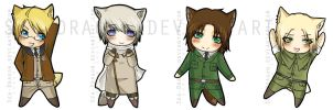 -APH- Fox Chibis by Sea-Dragon