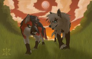 ::Clash Under a Red Moon:: by PirateGirl-Tetra