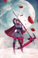 RWBY  Ruby Rose - Moon by MonicaWos