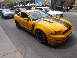 The Yellow Mustang At Jarvis And King #1 by Neville6000