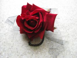 Red Rose Corsage by mad-hatter-inc
