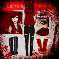 Red the blood taker outfit by Knife-Girl