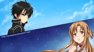 Kirito and Asuna by graypapaya