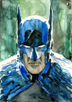 The Dark Knight watercolored by Soposoposopo
