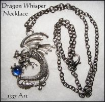 DragonWhisperMasculineNecklace by 1337-Art