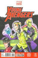 Young Avengers Sketch Cover Front by ibroussardart