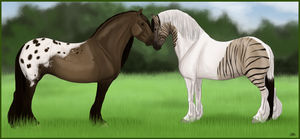 Two Clydesdales commission by LilianvH