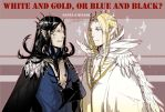 White and gold, or blue and black? by vampiry
