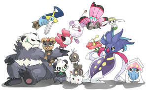 Groupe of pokemons by PinkGermy