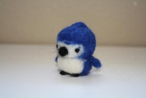 needle felted blue jay by poptartlove0104