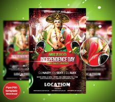 Mexico Independence Day flyer Template by Grandelelo