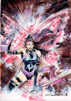 Sketch 49: Psylocke by Cinar