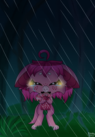 alone in the rain by P4ND4-ST4R