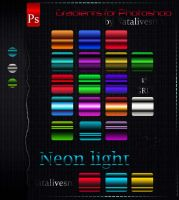 Gradients for Photoshop Neon light by Natalivesna