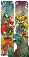 Brave Little Knights by WhiteRum