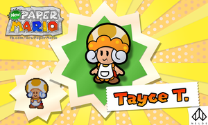New Paper Mario: Tayce T. by Nelde