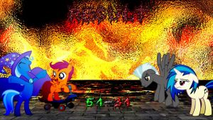 Pony Kombat 3 Round 3, Battle 1 (Result) by Macgrubor