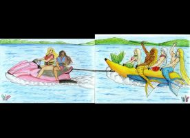 Merman in Banana Boat by seawaterwitch