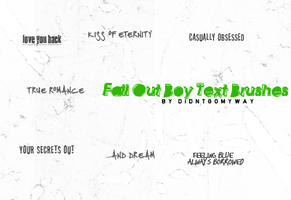 Fall Out Boy Text Brushes by didntgomyway