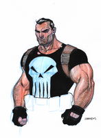 Punisher Sketch. by IbraimRoberson