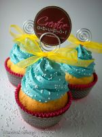 Sprinkles in Blue frosting by CreativeAbubot