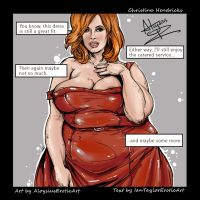 Christina Hendricks SSBBW Commission by AloysiusEroticArt