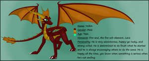 Vulkin, Son of Spyro and Cynder by SlyNoodles