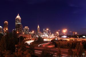 Atlanta Skyline by fusk4