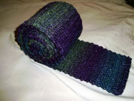 Shiny green, purple, blue scarf 2 by K-especial