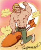 Brock samson ridin on a rocket by okTOMATO