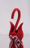 3D Origami Swan (British Heart Foundation) by Karnoffel