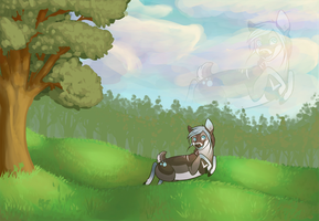 Gift: Playing in the meadows! by TalonEX