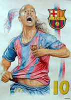 Ronaldinho by machoart