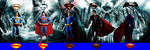 The Supermen from the movies (With chest sigil) by Alexbadass