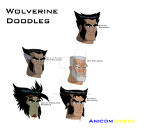 Wolverine Doodles 2 by Anicomicgeek