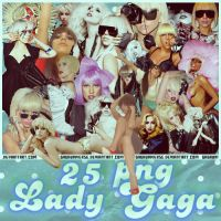 25 PNG LADY GAGA SET 1 by gagauniverse