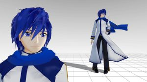 Kaito MMD model download by Reon046