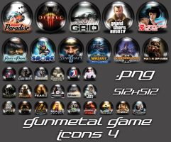 GunMetal Game Icons  4 by Shortie111