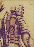 Drawing Isaac Clarke - Dead Space by MathDrawing