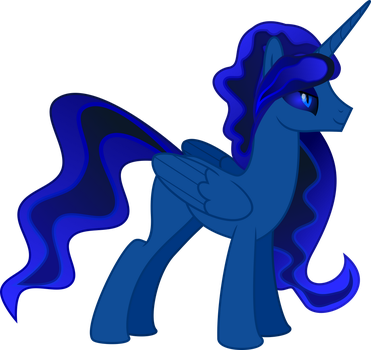 Blue Alicorn (Fallout Equestria) by LittleStarWanderer